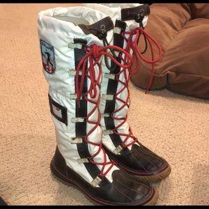 Pajar White/Brown Grip Boots